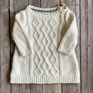 Carter's Baby Girl CreamCable Kit Sweater size 3M